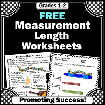 FREE Measurement Worksheets Distance Learning 1st 2nd Grade Math Review
