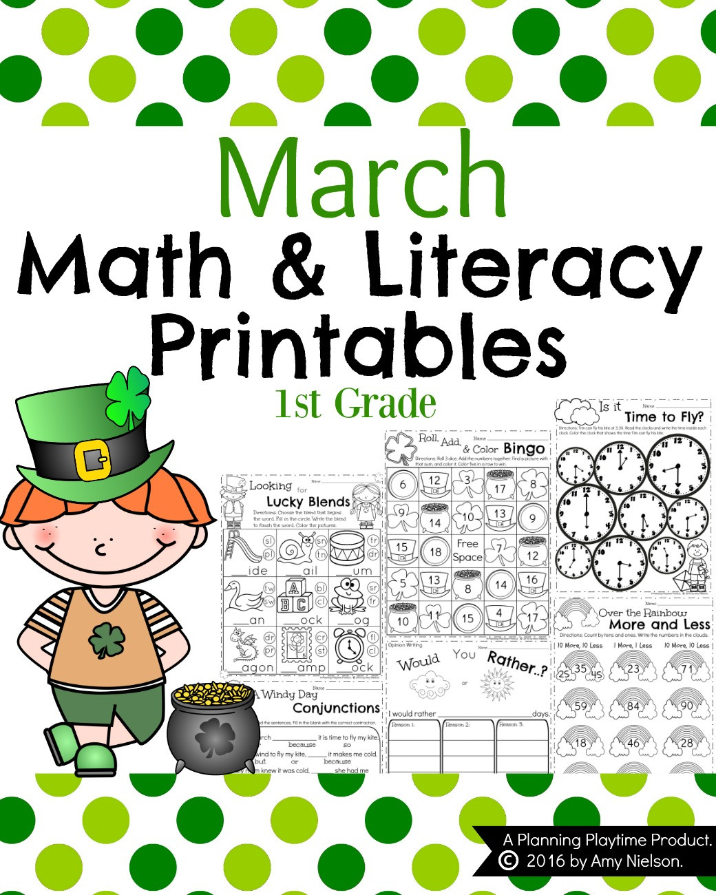 Measurement Worksheet for First Grade March First Grade Worksheets
