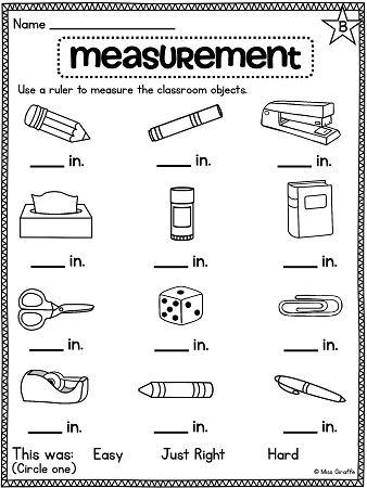 Measurement Worksheets 1st Grade Measure Classroom Objects Worksheet to Practice Using A