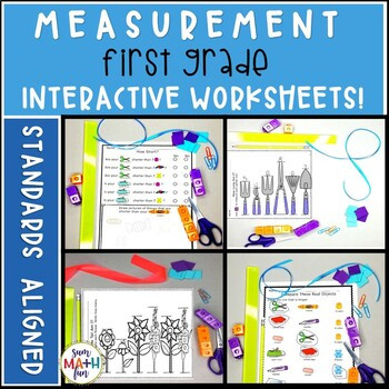 Measuring Worksheet for First Grade Measurement Worksheets First Grade No Prep Printables Distance Learning