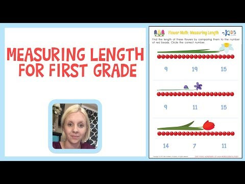 Measuring Worksheets 1st Grade Measuring Length for First Grade