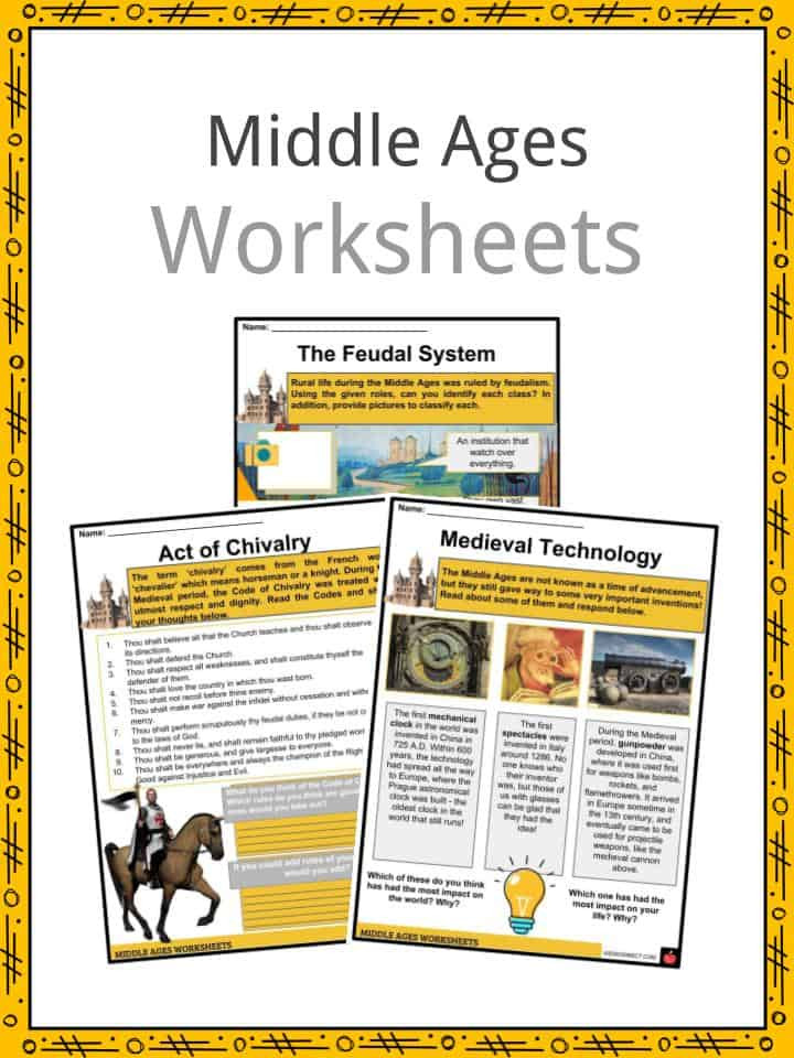 Middle Ages Worksheets 6th Grade Middle Ages Facts Worksheets events Culture & Traditions