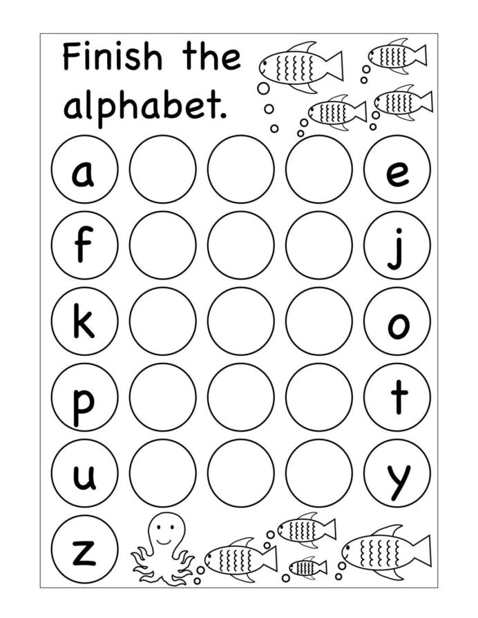 Missing Letters Alphabet Worksheet Winter Missing Letters Kindergarten Worksheet Printable
