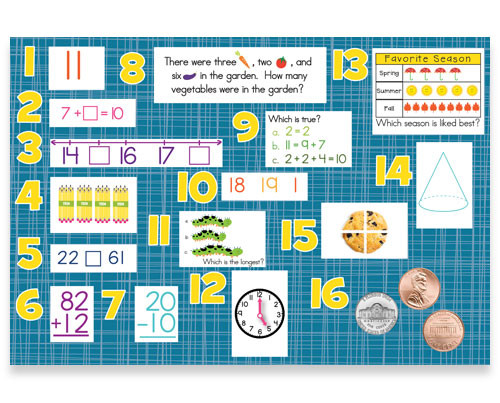 Mountain Math 2nd Grade Worksheet 1st Grade Math Daily Review Bulletin Board Kit