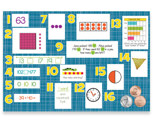 Mountain Math 2nd Grade Worksheet 2nd Grade Math Learning Review Bulletin Board Kit