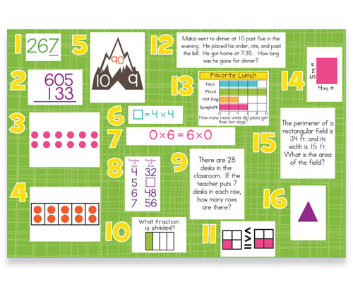Mountain Math 2nd Grade Worksheet 3rd Grade Mon Core Math Daily Exercises Bulletin Board Kit