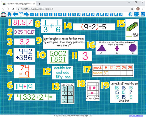 Mountain Math 2nd Grade Worksheet 5th Grade Math Spiral Review for Interactive Whiteboard