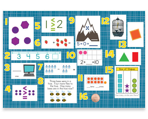 Mountain Math 2nd Grade Worksheet Kindergarten Math Exercises Review Bulletin Board Kit