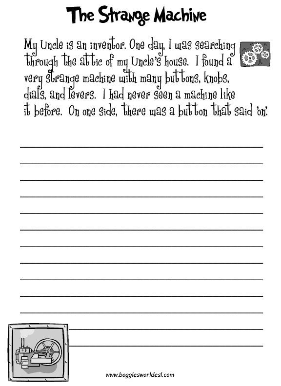 Narrative Writing Worksheets Pdf Fun Creative Writing Prompts with Worksheets