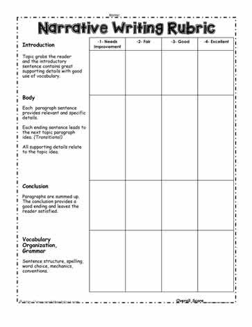 Narrative Writing Worksheets Pdf Narrative Writing Worksheets
