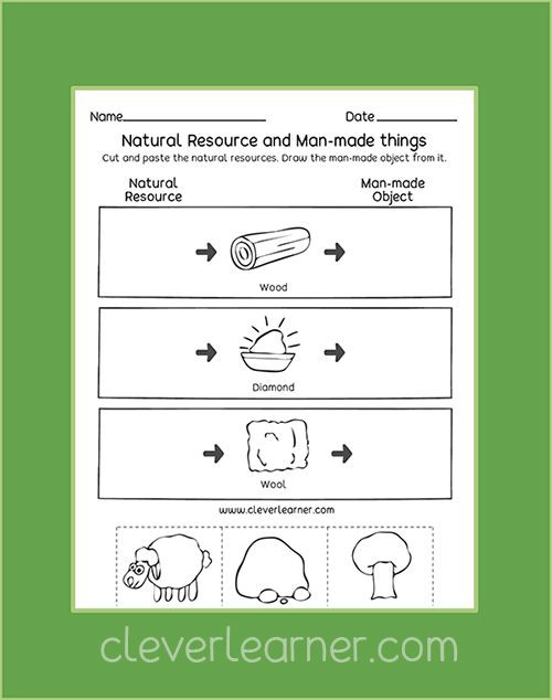 Natural Resources Worksheets 1st Grade Free Kids Worksheets On Natural Resources Firstgrade