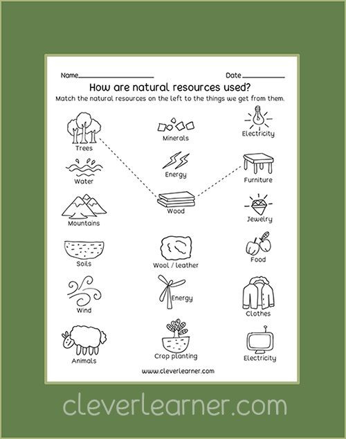 Natural Resources Worksheets 1st Grade Free Preschool Worksheets On Natural Resources and Man Made
