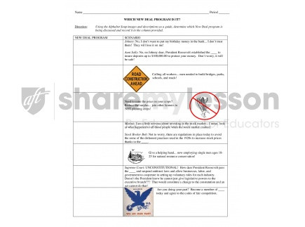 New Deal Alphabet soup Worksheet Alphabet soup which New Deal Program is It