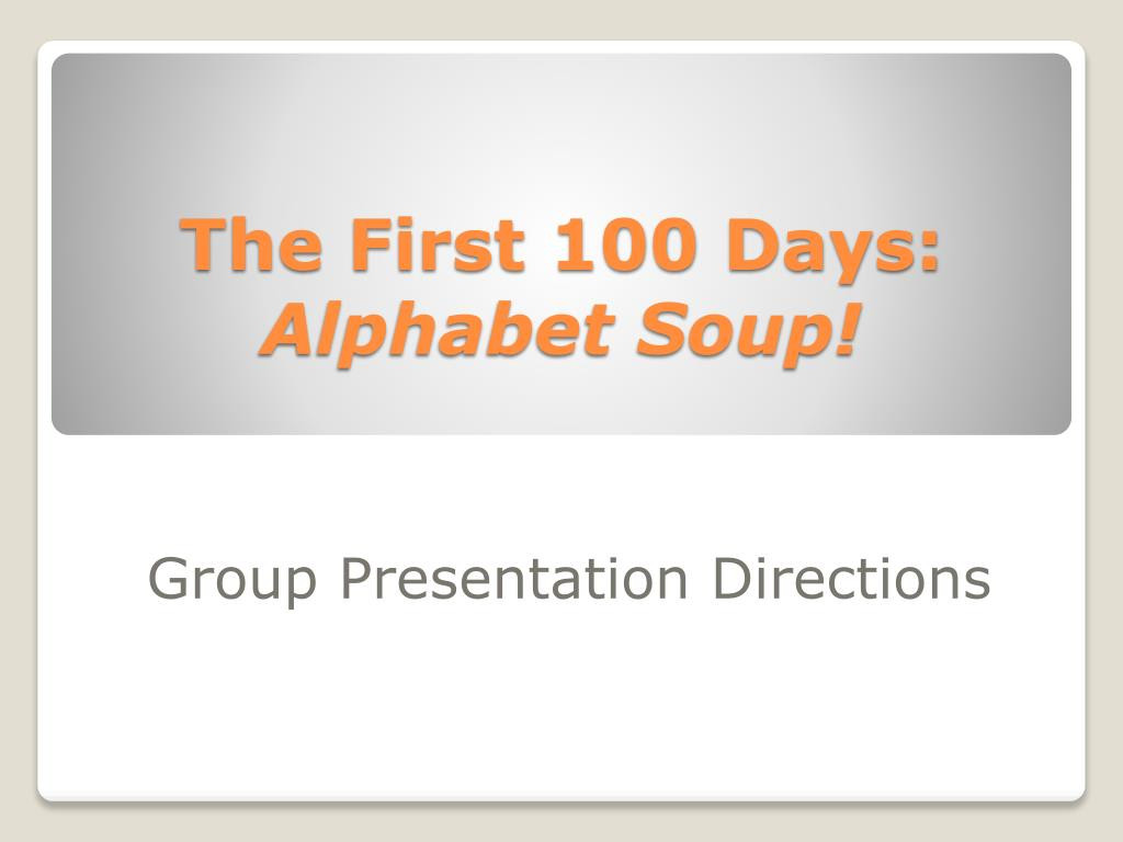 New Deal Alphabet soup Worksheet Ppt the First 100 Days Alphabet soup Powerpoint