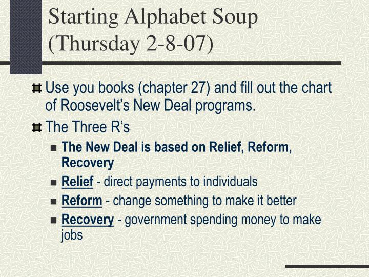 New Deal Alphabet soup Worksheet Ppt the New Deal and Reform Powerpoint Presentation Free