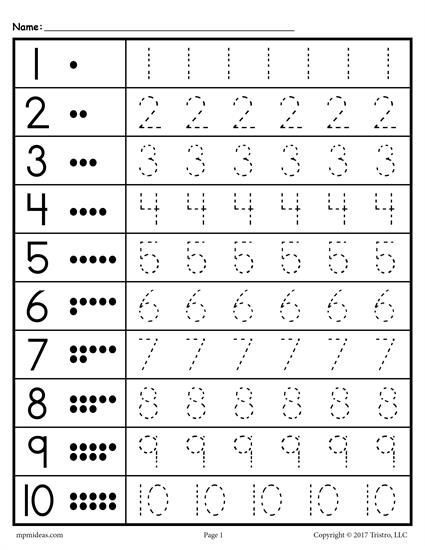 Number Writing Worksheets 1 20 Free Printable Tracing Worksheet Numbers 1 10