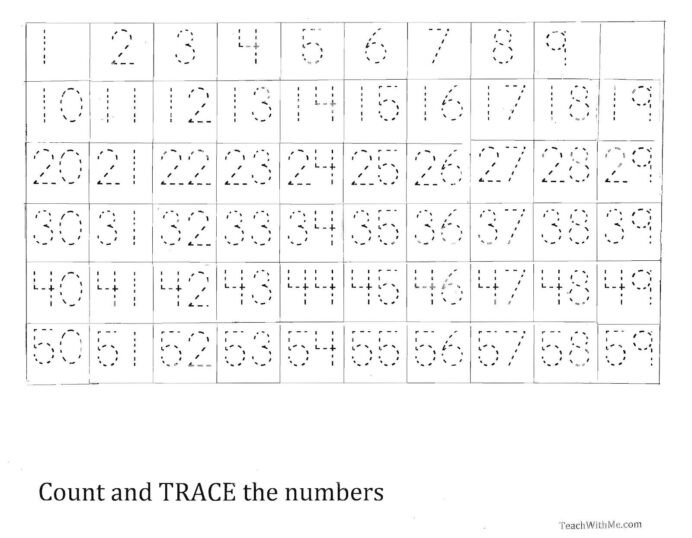 Number Writing Worksheets 1 20 Number Tracing Worksheet Printable Worksheets and Write