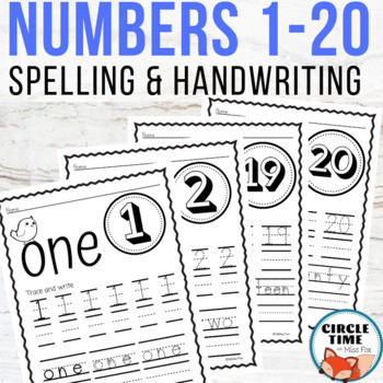 Number Writing Worksheets 1 20 Number Tracing Worksheets 1 20 Counting & Handwriting Practice
