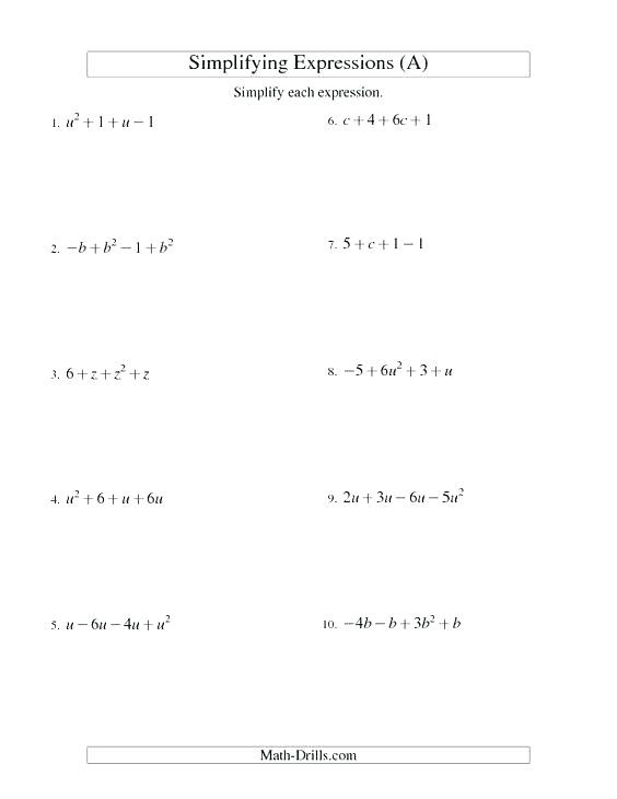 Numerical Expressions 5th Grade Worksheet Coloring Pages 6th Grade Algebraic Expressions Worksheets