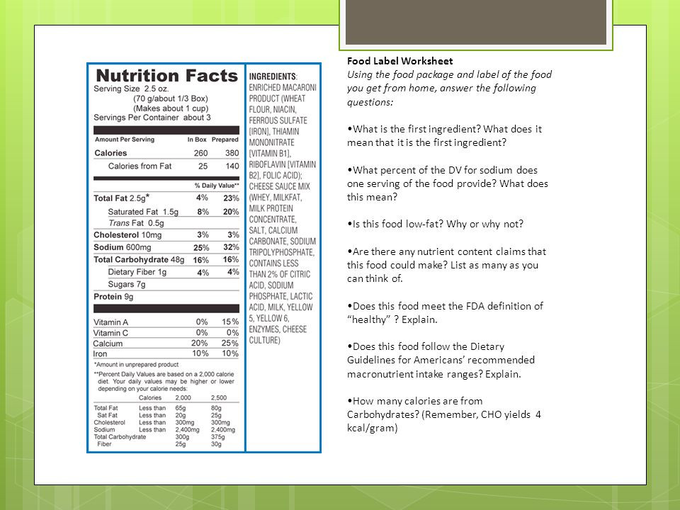 Nutrition Label Worksheet High School 18 Informative Food Label Worksheets