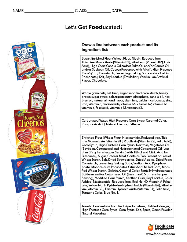 Nutrition Label Worksheet High School Fun Nutrition Worksheets for Kids