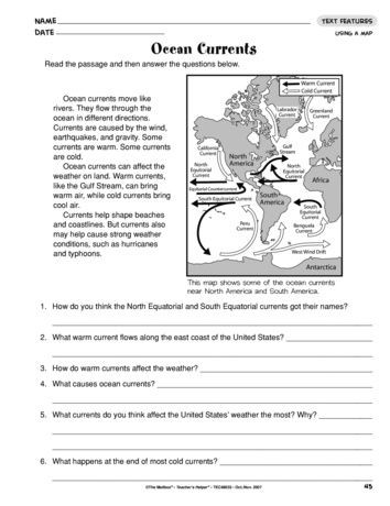 Ocean Currents Worksheet High School Ocean Currents Lesson Plans the Mailbox