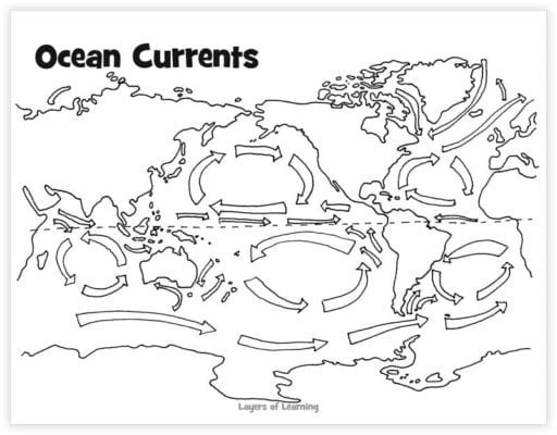 Ocean Currents Worksheet High School Ocean Currents Ocean Floor Ocean In A Bottle Craft and