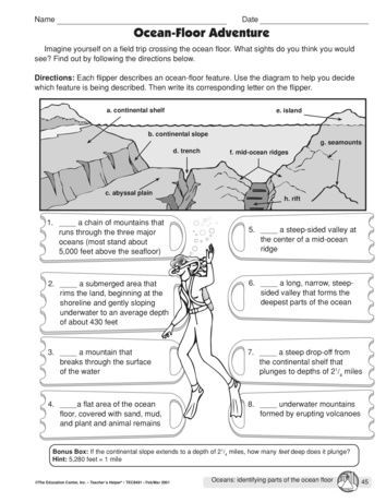 Ocean Currents Worksheet High School Ocean Floor Adventure Lesson Plans the Mailbox