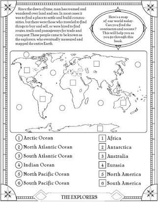 Ocean Worksheets First Grade Continents Of the World Free Printable Worksheets