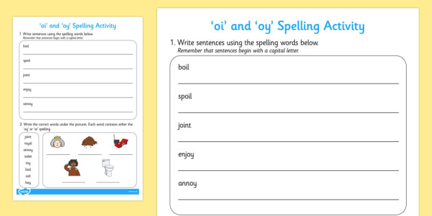 Oi Oy Worksheets 2nd Grade Oi and Oy Words Worksheet Teacher Made Worksheets Primary