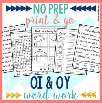 Oi Oy Worksheets 2nd Grade Oi Oy Worksheets