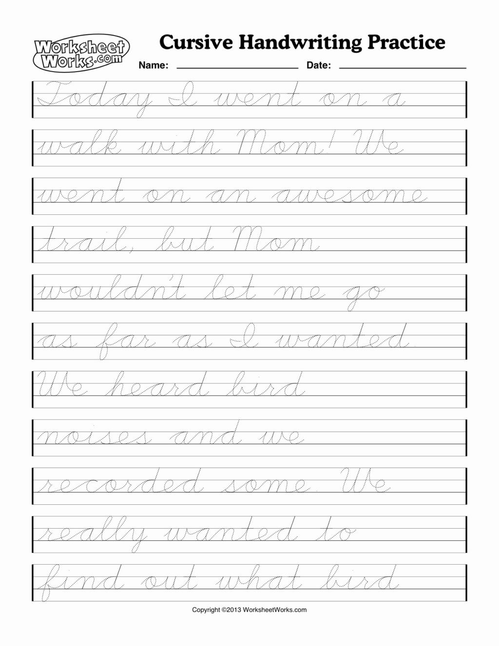 Paragraph Writing Practice Worksheets Math Worksheet How toe Cursive Writing Worksheets for 3rd