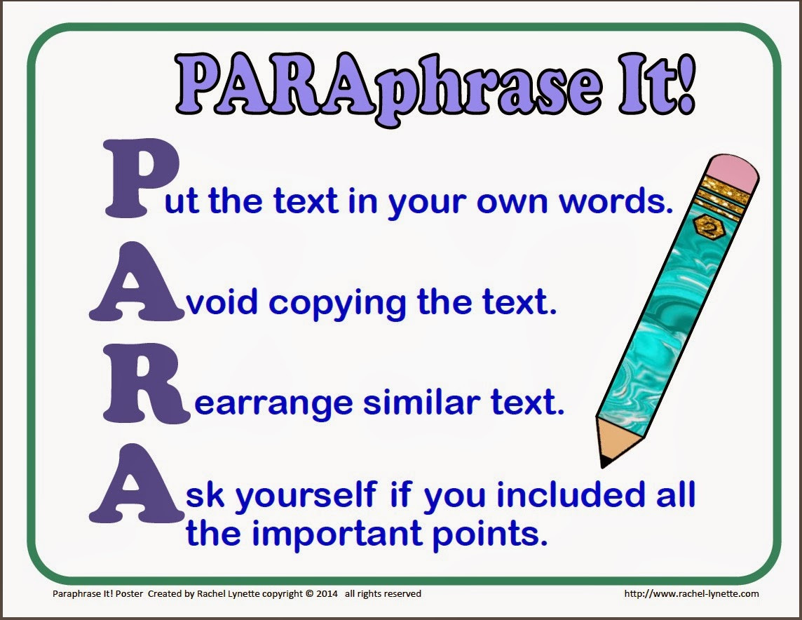 Paraphrasing Worksheets 3rd Grade Teaching Kids to Paraphrase Step by Step Minds In Bloom