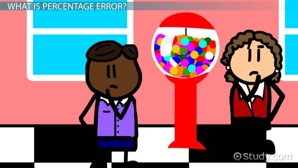 Percent Error Worksheet 7th Grade What is Percentage Error Definition & Example Video