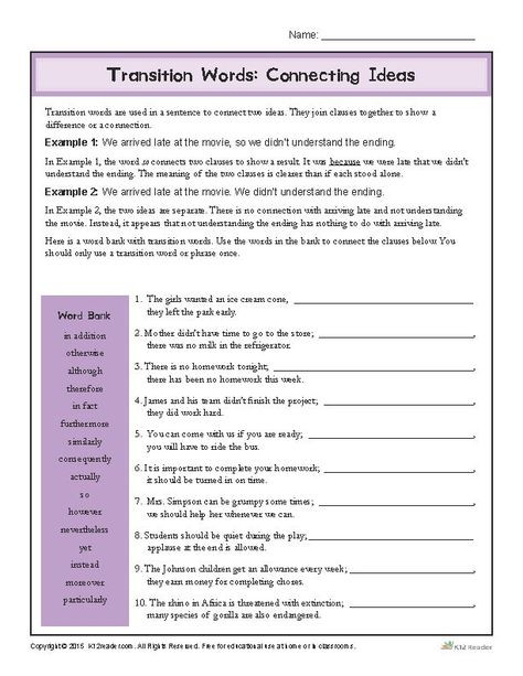 17e9ef744f83f386b5e175e7369e9ef8 transition words worksheet transition word activities
