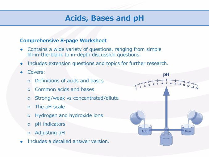 Ph Worksheet High School Acids Bases and Ph [worksheet]