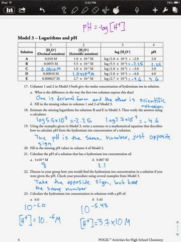 Ph Worksheet High School the Life Of A High School Science Student Calculating Ph