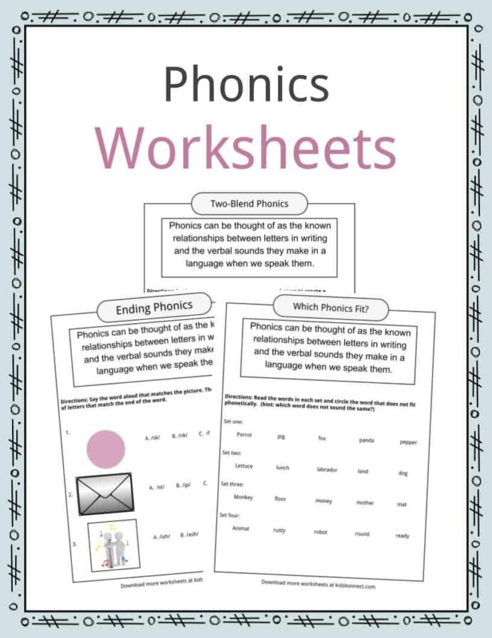 Phonic Worksheets 3rd Grade Phonics Table Worksheets Examples Definition for Kids