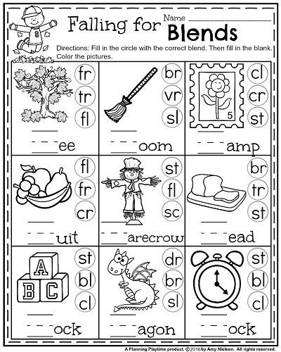 Phonics Worksheets for 1st Grade 1st Grade Math and Literacy Worksheets with A Freebie