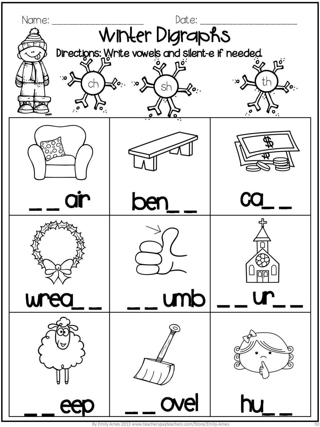 Phonics Worksheets for 1st Graders Math Worksheet Free First Grade Phonics Worksheets