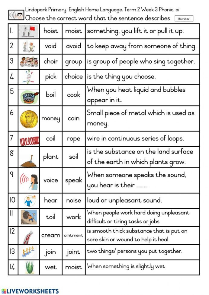 Phonics Worksheets for 3rd Grade Grade English Hl Term Week Phonic Oi Worksheet Worksheets
