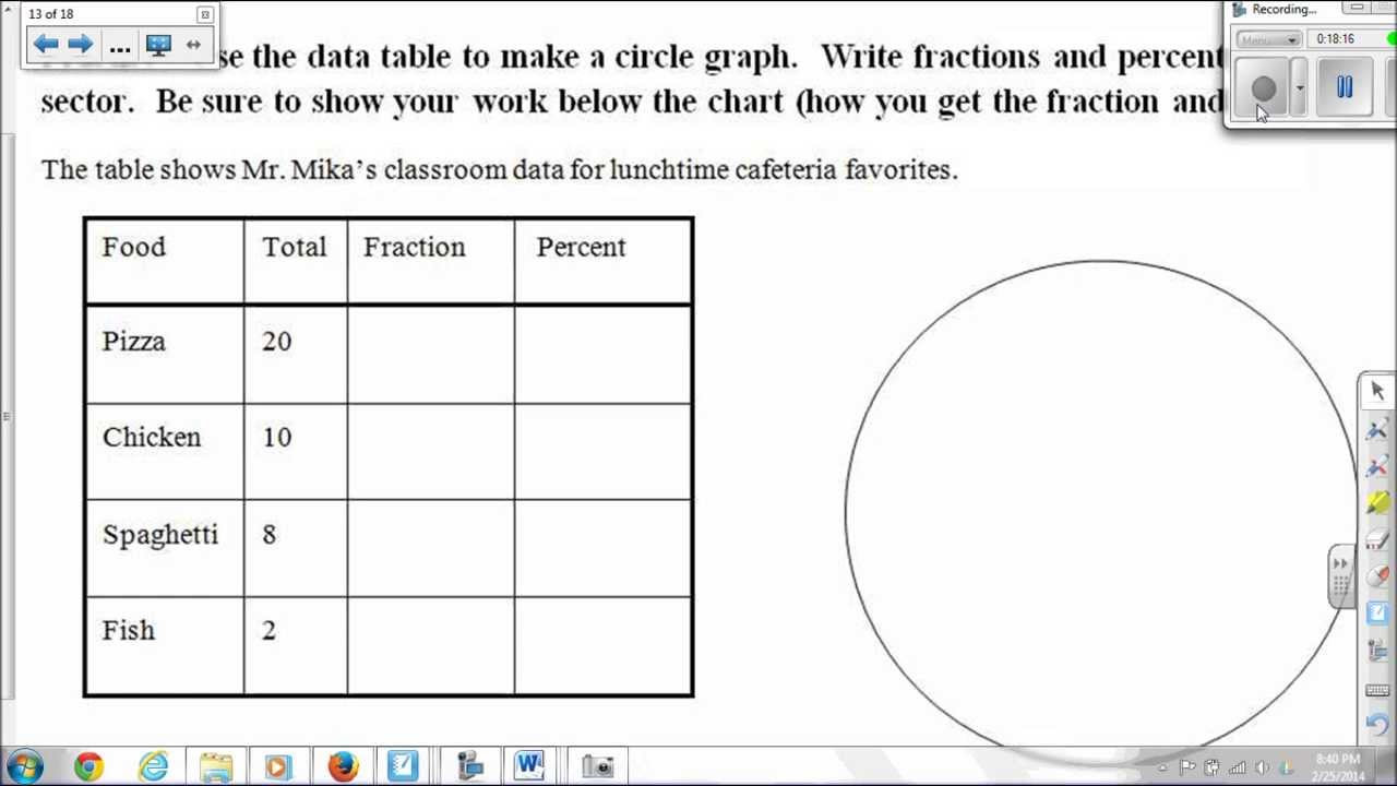 Pie Graph Worksheets High School Pie Graphs or Circle Graphs with Videos Worksheets