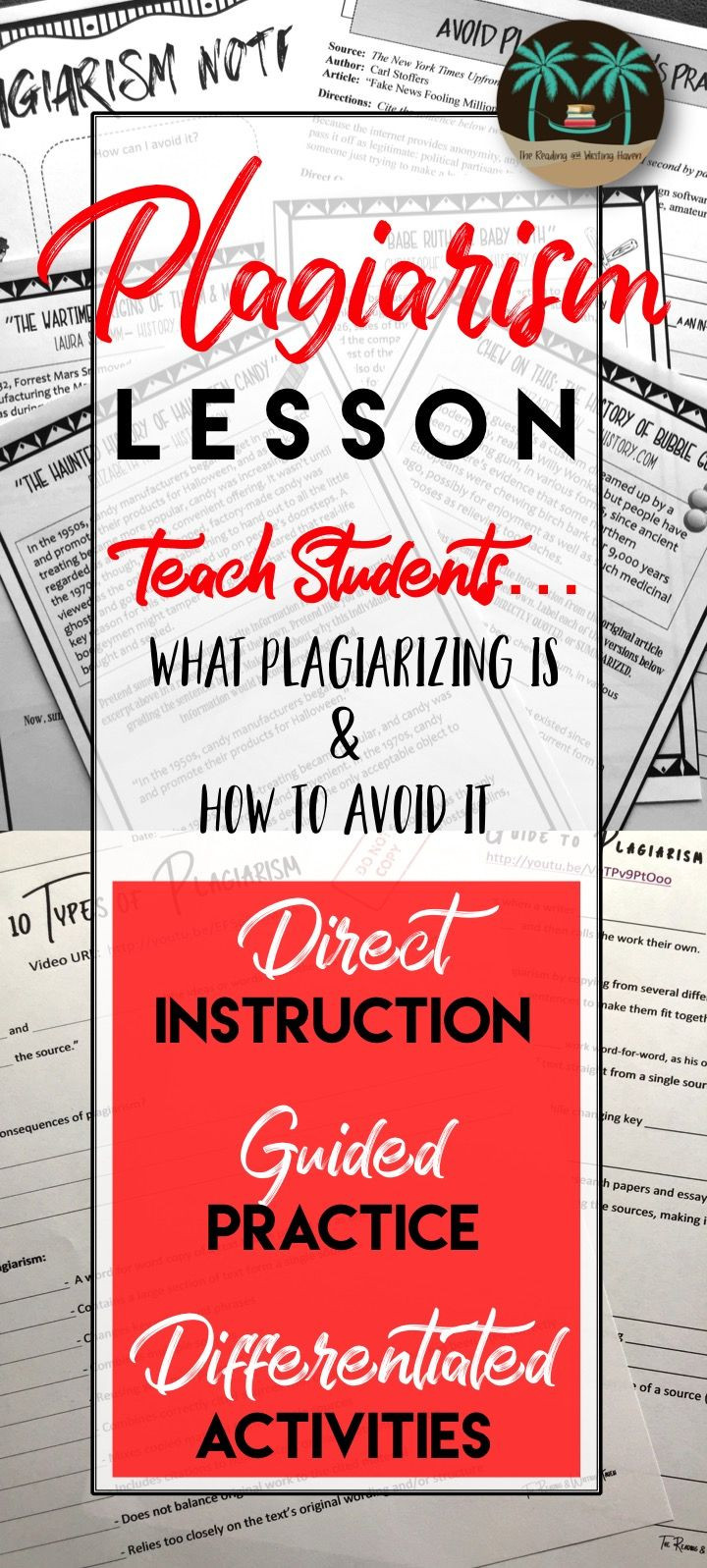 Plagiarism Worksheet High School Avoiding Plagiarism Unit Engaging Plagiarism Lessons for