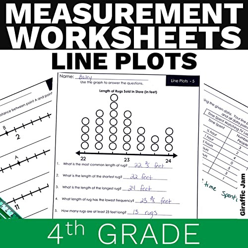 Plot Worksheets 4th Grade 4th Grade Line Plot No Prep Printable Worksheets with