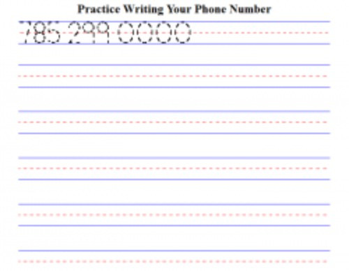 Practice Writing Addresses Worksheets Free Worksheets for Kids to Practice Writing their Phone