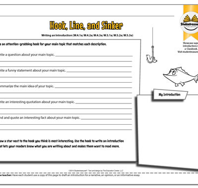 Practice Writing Hooks Worksheet Free Lesson Plans