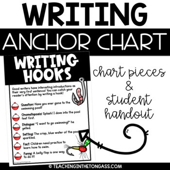 Practice Writing Hooks Worksheet Writing Hooks Anchor Chart Free Writing Poster