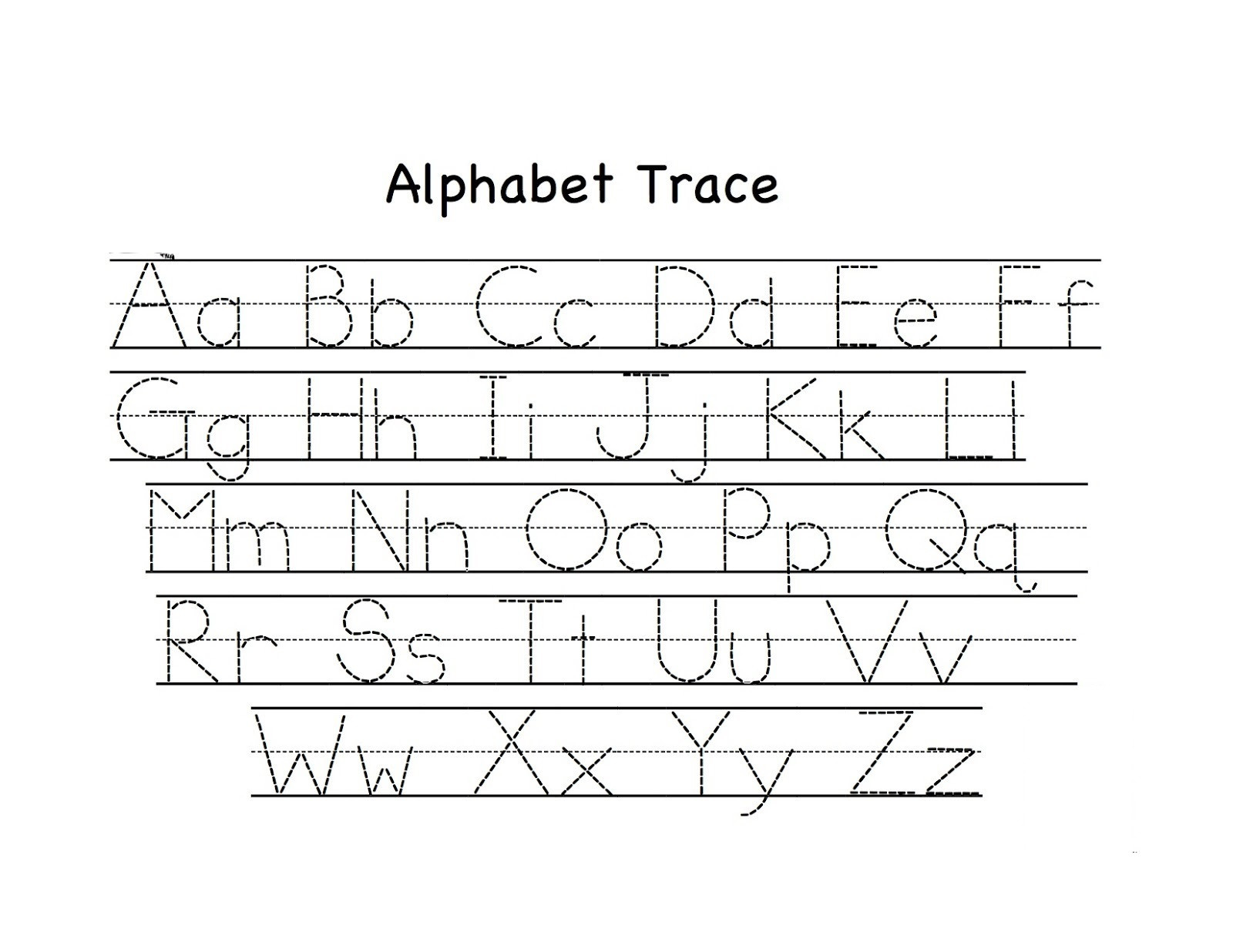 Pre K Worksheets Alphabet Tracing Preschool Tracing Worksheets Best Coloring Pages for Kids