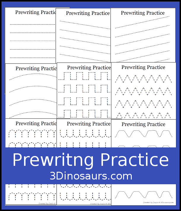 Pre Writing Strokes Worksheets Easy No Prep Prewriting Practice Printables Free