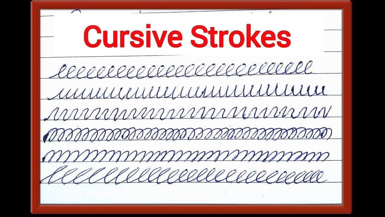 Pre Writing Strokes Worksheets How to Cursive Pre Writing Strokes Cursive Handwriting Help Tutorial
